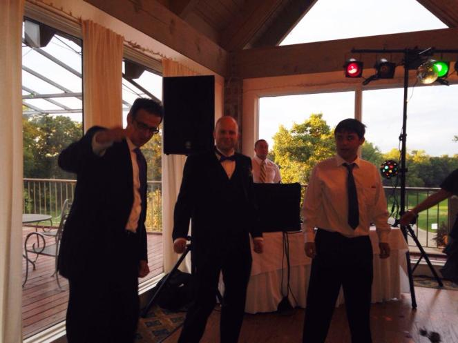 The Groom with his Best Man, John and Groom's Man, Cyrus