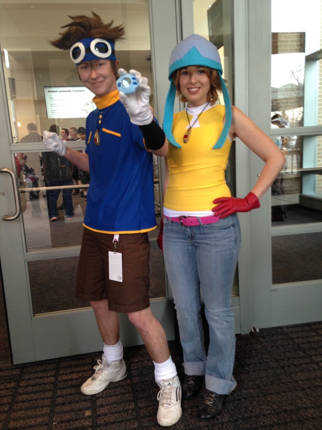 Tai and Sora of Digimon